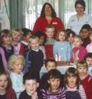 Head teacher Margaret McCormick and teacher Lynda Tafu at the celebration for our 60th birthday in 2005