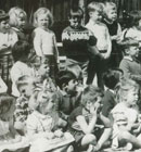 The children of Hillmorton kindergarten have a group photo in 1964