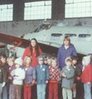 Hillmorton Kindergarten went on an adventure to the Airforce Museum in Wigram in 1976